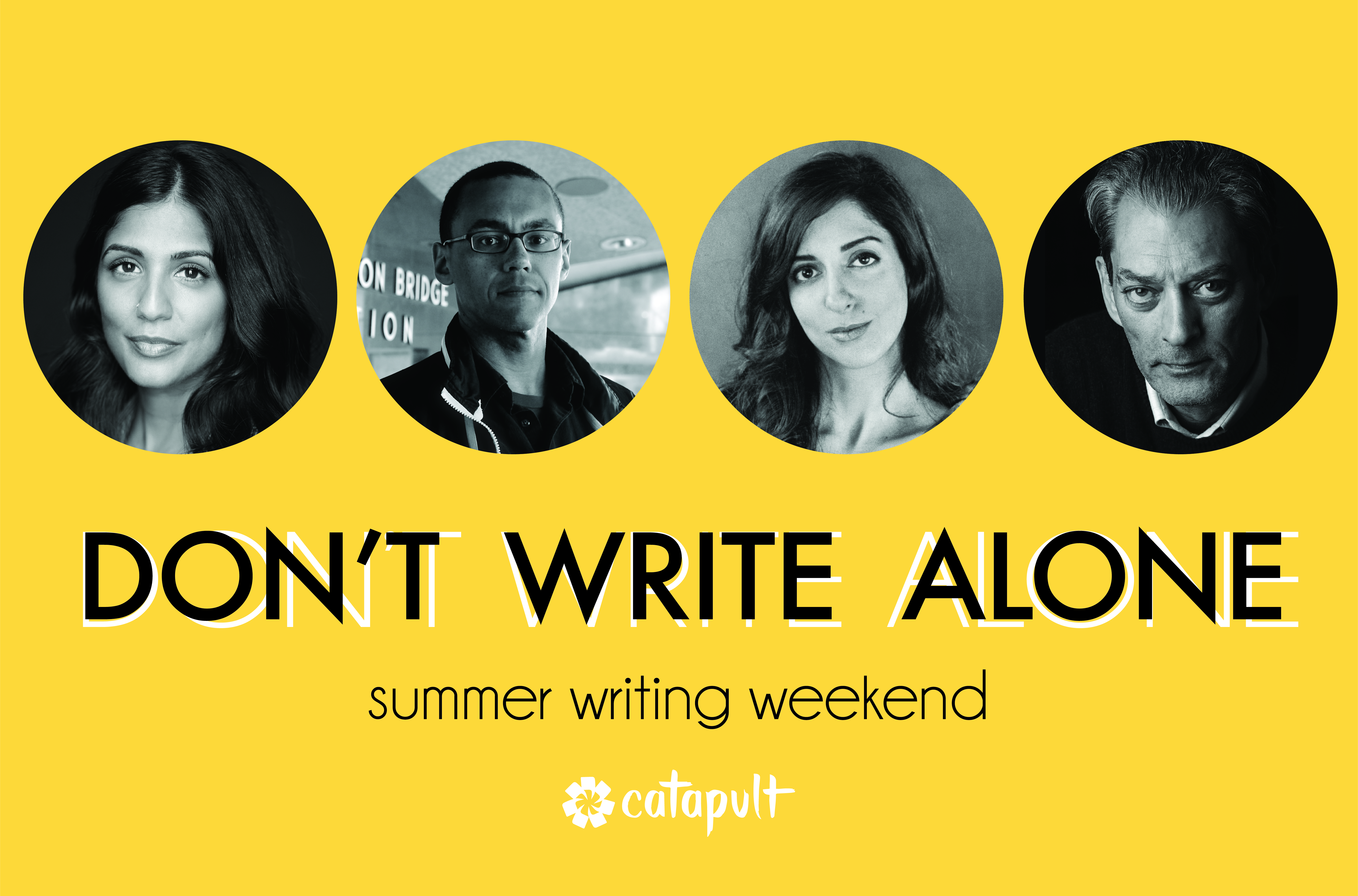 Catapult  classes: Don't Write Alone, Don't Write Alone Weekend, Open-Genre, Intensive