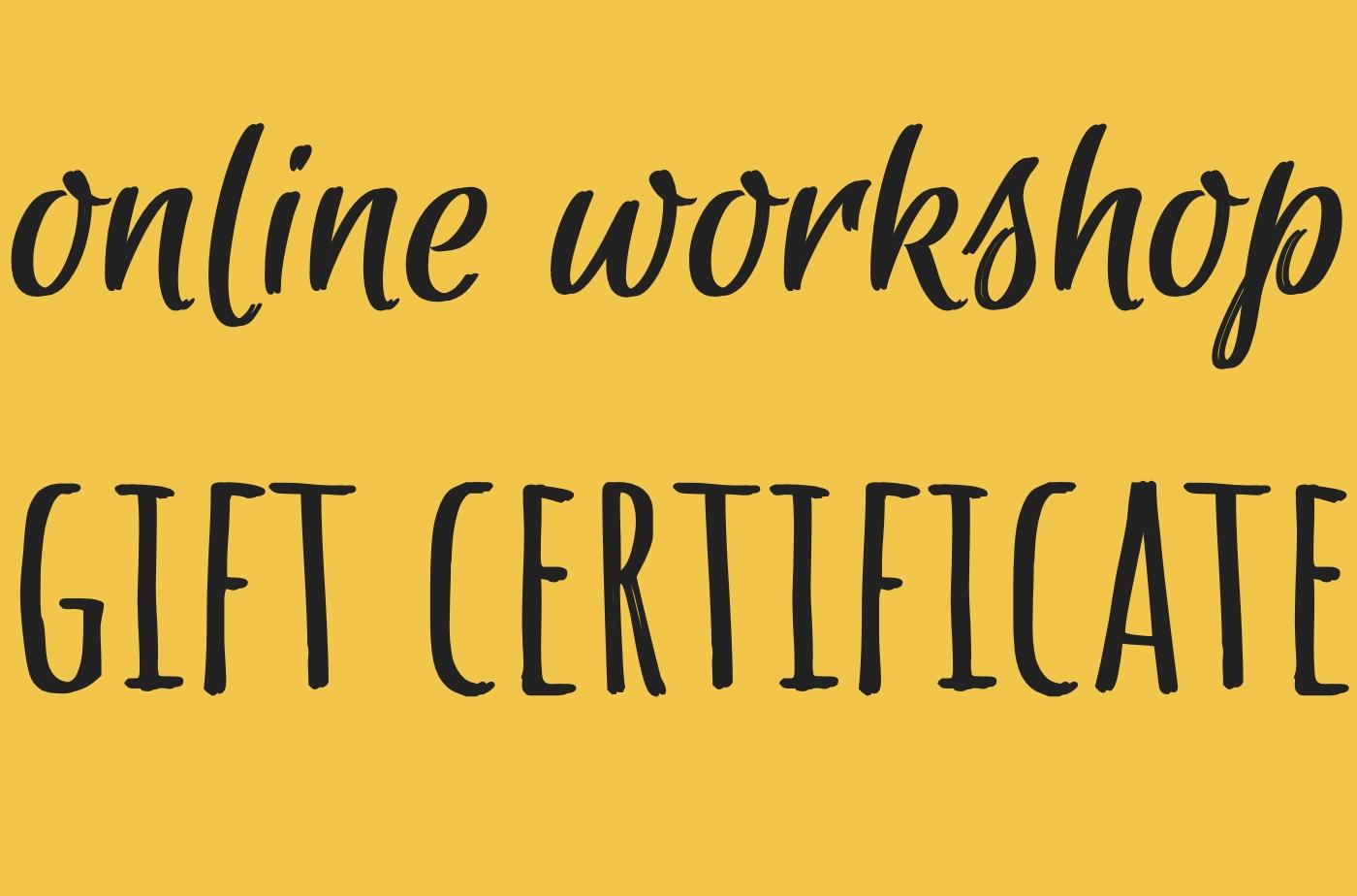 Catapult online classes: Catapult Classes, Online Workshop Gift Certificate, Open-Genre, Workshop