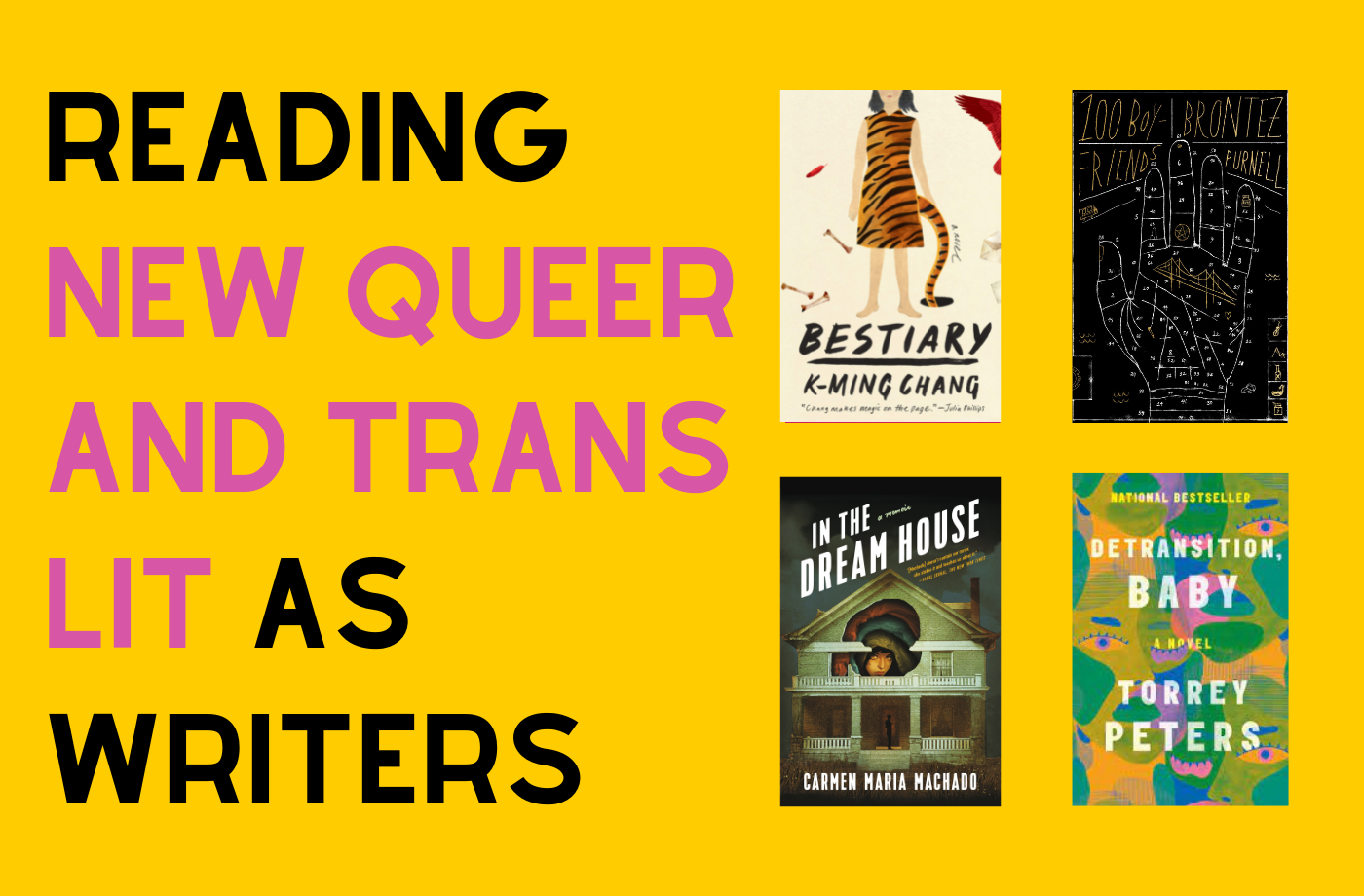 Catapult online classes: Megan Milks, 4 Weeks of Reading New Queer & Trans Lit as Writers, Nonfiction, Reading Group