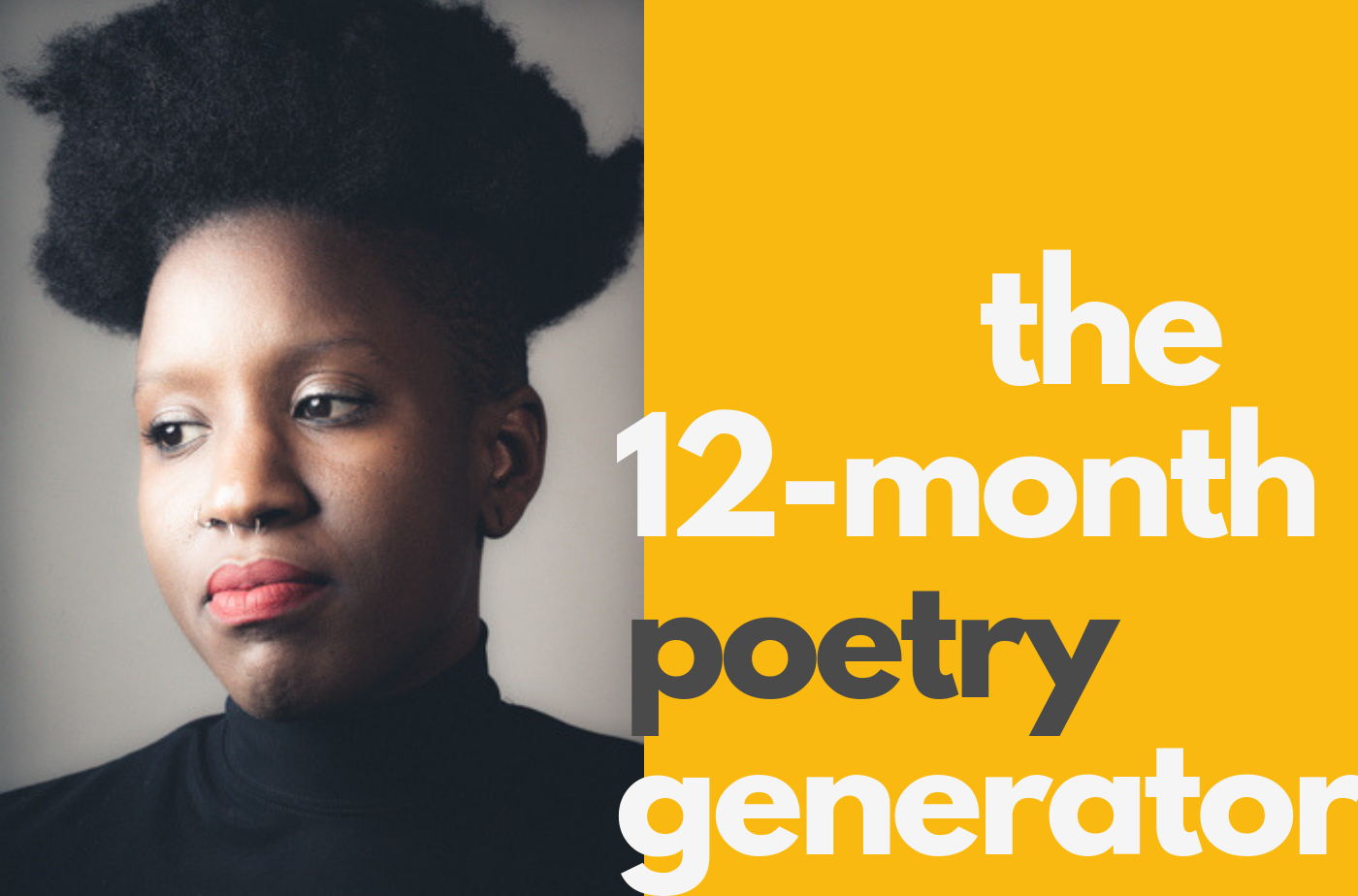 Catapult online classes: Angel Nafis, The Poetry Generator: 12 Months to a New Body of Work, Poetry, Workshop