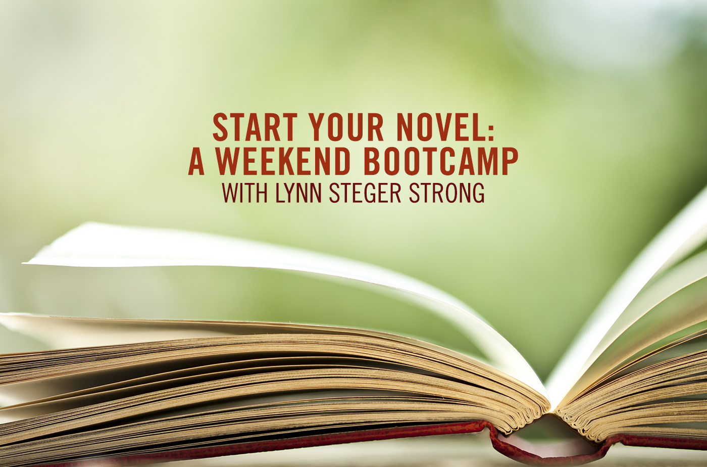 Catapult  classes: Lynn Steger Strong, Start Your Novel: A Weekend Bootcamp, Fiction, Bootcamp