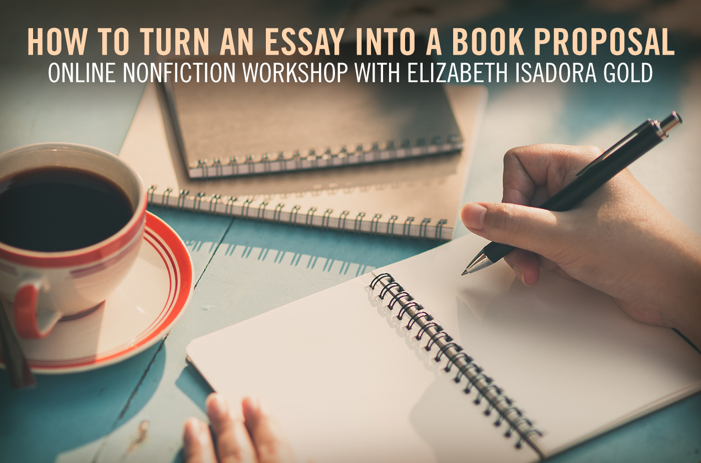 Catapult online classes: Elizabeth Isadora Gold, How to Turn an Essay into a Book Proposal, Nonfiction, Workshop