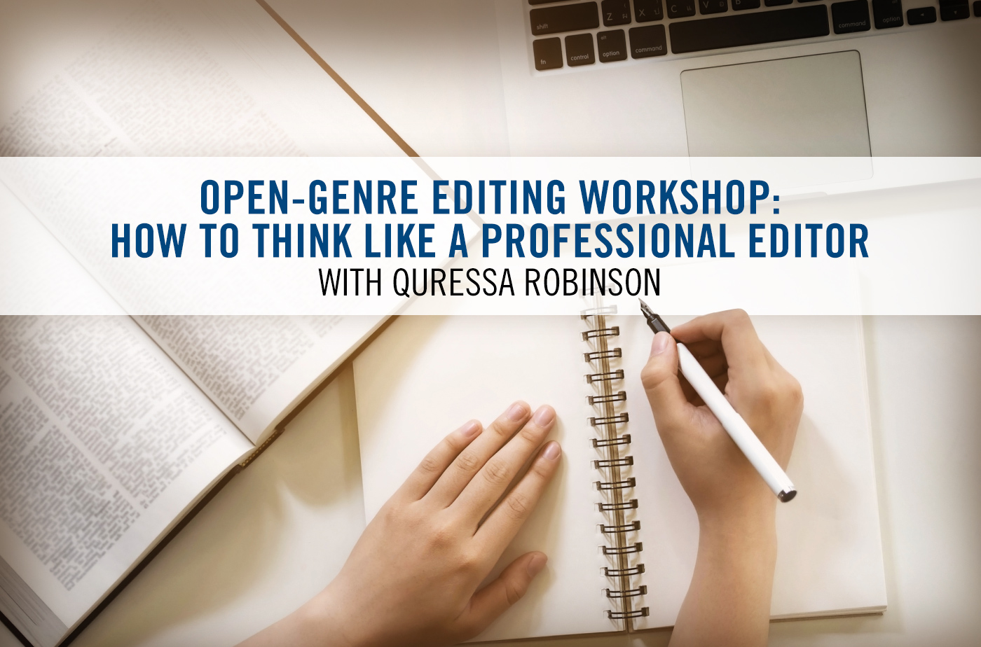 Cover Photo: How to Think Like a Professional Editor