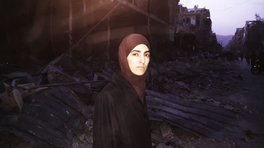 Cover Photo: Deana in eastern Ghouta. Photo provided by the author.
