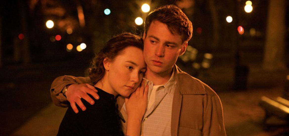 "Cover Photo: Saoirse Ronan and Emory Cohen in Fox Searchlight's ""Brooklyn"""