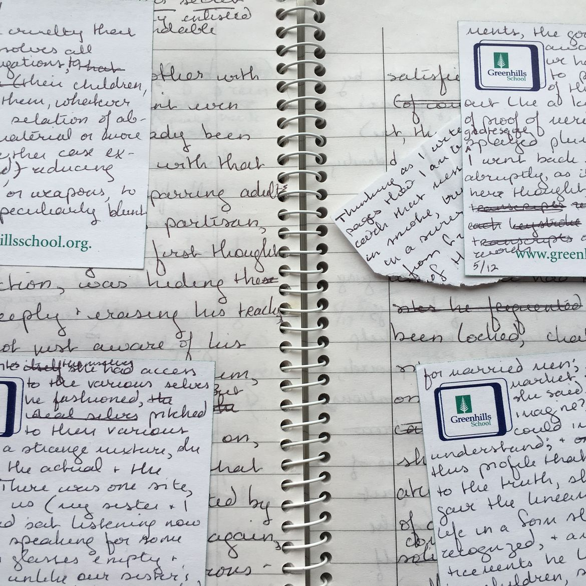 Cover Photo: Garth Greenwell's notebooks