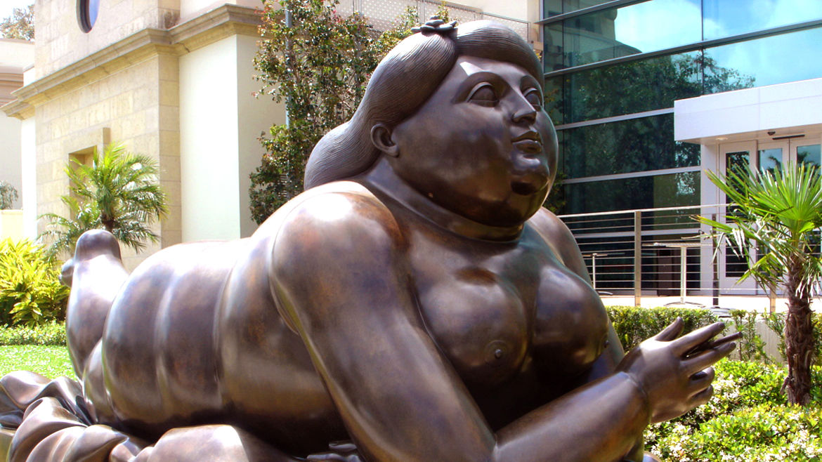 "Cover Photo: Fernando Botero, ""Woman Smoking a Cigarette,"" 1987"
