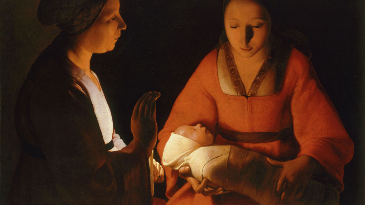 "Cover Photo: Georges de la Tour, ""The Newborn"" (1630)"