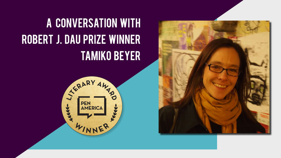 Cover Photo: A photo of Tamiko Beyer,  author and winner of the 2019 Robert J. Dau prize.