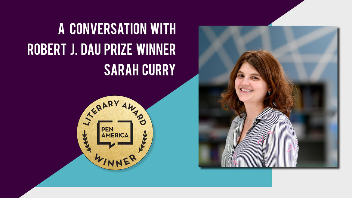 Cover Photo: A photo of Sarah Curry,  author and winner of the 2019 Robert J. Dau prize.
