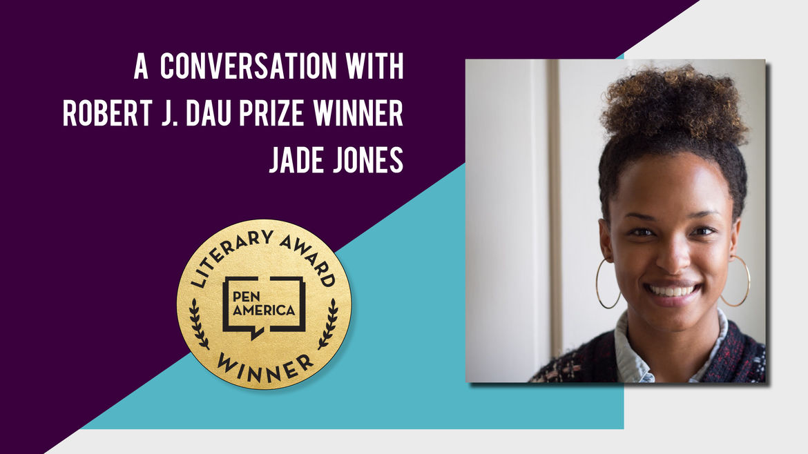 Cover Photo: A photo of Jade Jones,  author and winner of the 2019 Robert J. Dau prize, smiling.