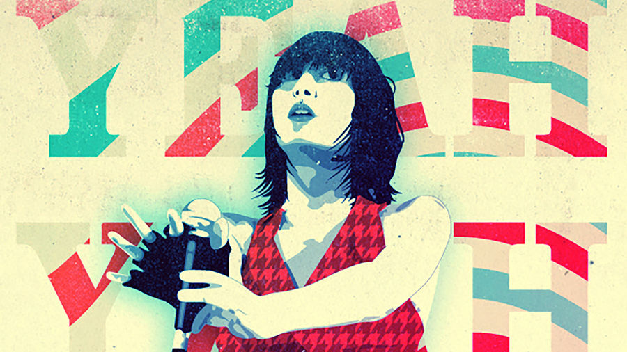 Cover Photo: A spray-painted illustration of Karen O, an Asian American musician and the frontwoman of the band the Yeah Yeah Yeahs