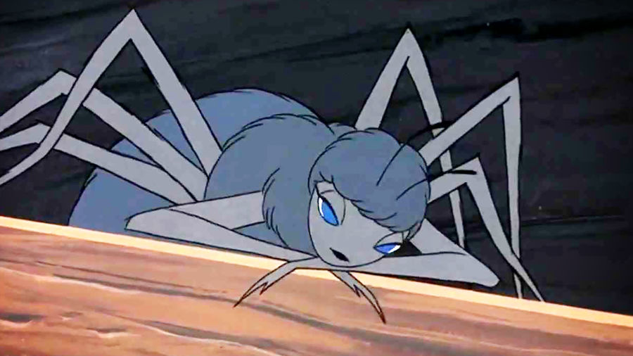 Cover Photo: An image of Charlotte from the 1973 animated film adaptation of Charlotte's Web: a feminized spider with two pairs of big eyes