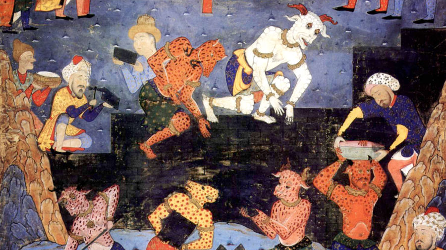 Cover Photo: Historical art featuring djinn—human-shaped creatures—working with humans