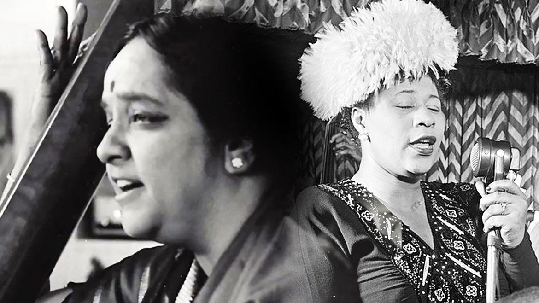 Cover Photo: Photo collage of Lakshmi Shankar and Ella Fitzerald