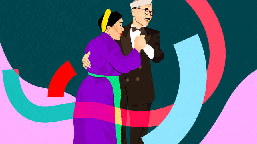 Cover Photo: Illustration based on a photograph of the author's grandparents dancing together in Darjeeling, c. 1940