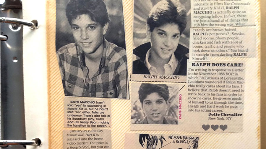 Cover Photo: An image of the author's binder which holds various pictures and clipping from articles about Ralph Macchio