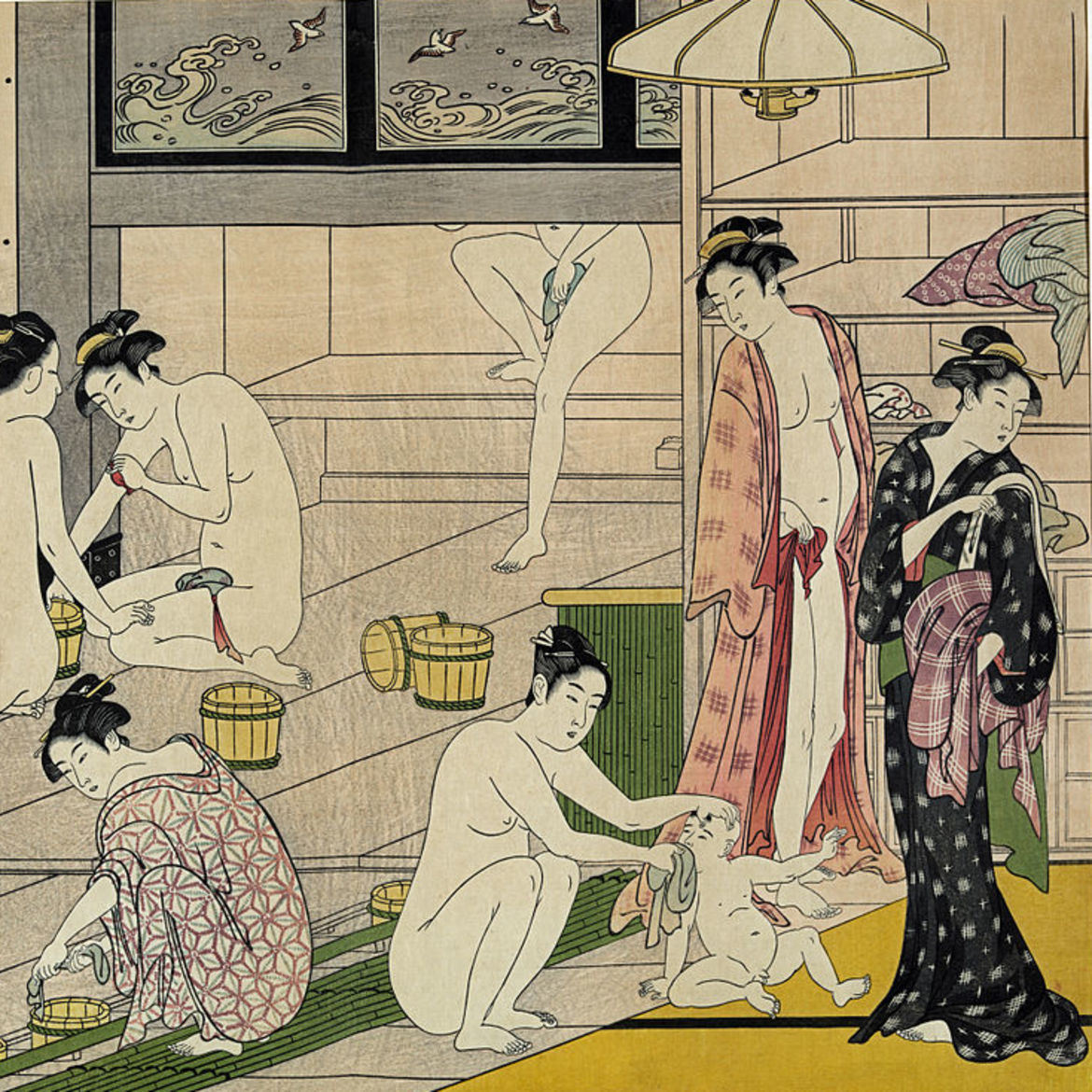 "Cover Photo: detail of Onna yu (""Bathhouse Women"") by Torii Kiyonaga (1752–1815)"