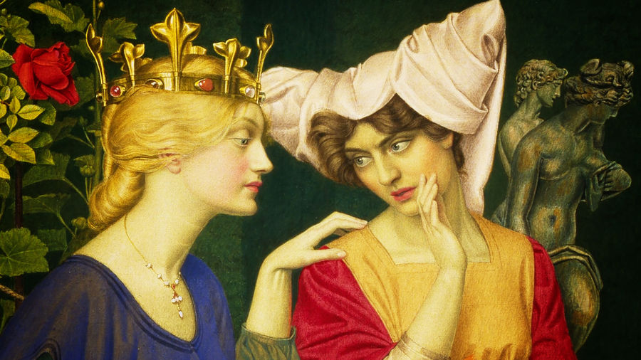 Cover Photo: A detail of Joseph Edward Southall's 'Changing the Letter'  featuring two  figures whispering