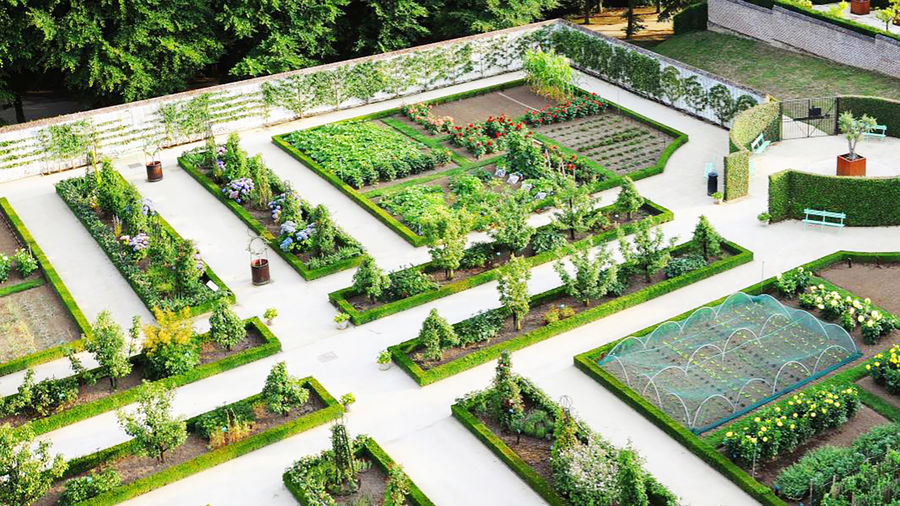 Cover Photo: This photograph is a view from above of the Gaasbeek Museum Gardens. Bordered by a low white wall, the gardens are meticulously organized. We see bright flowers, pruned trees, and low beds of vegetables all enclosed in neat, beautiful bordered plots.