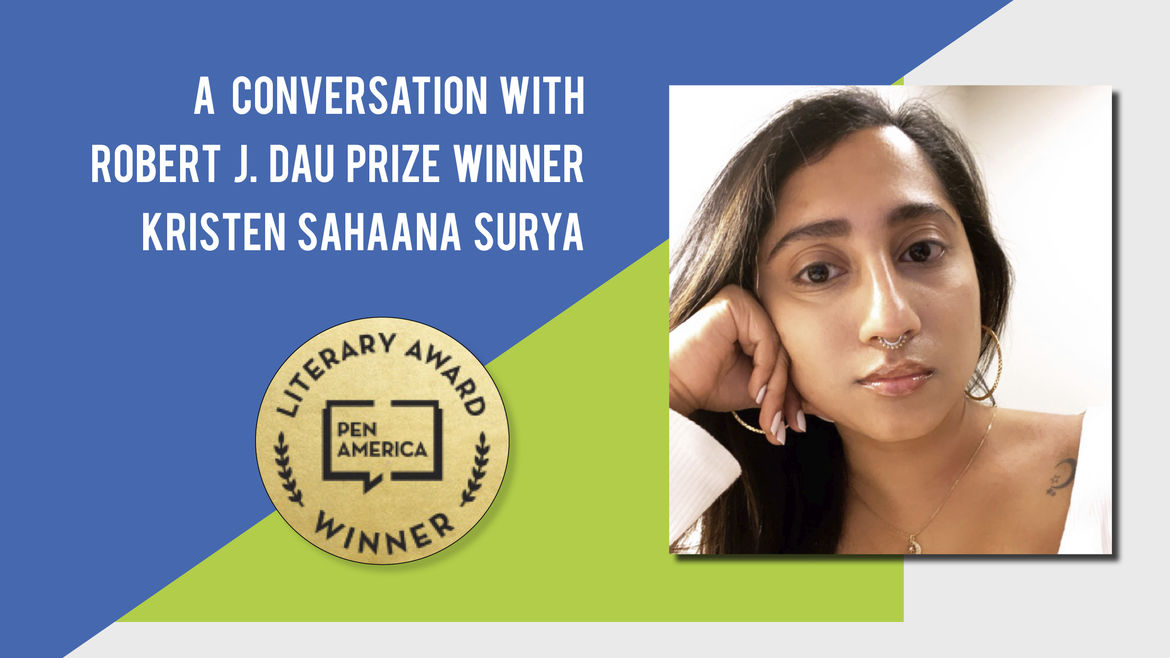 Cover Photo: A Conversation With Best Debut Short Stories 2020 Author Kristen Sahaana Surya by Catapult Books