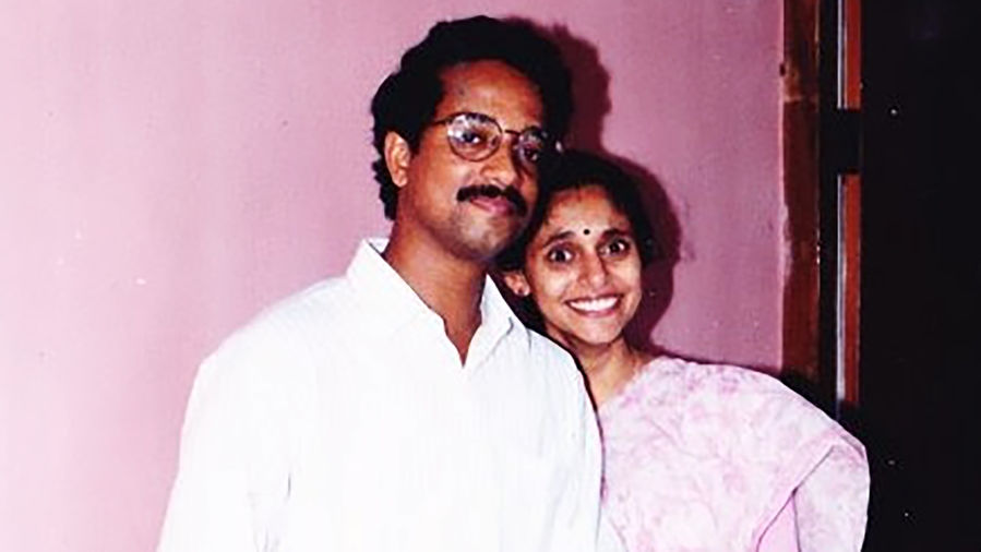 Cover Photo: A photograph of the author's parents, in their younger years