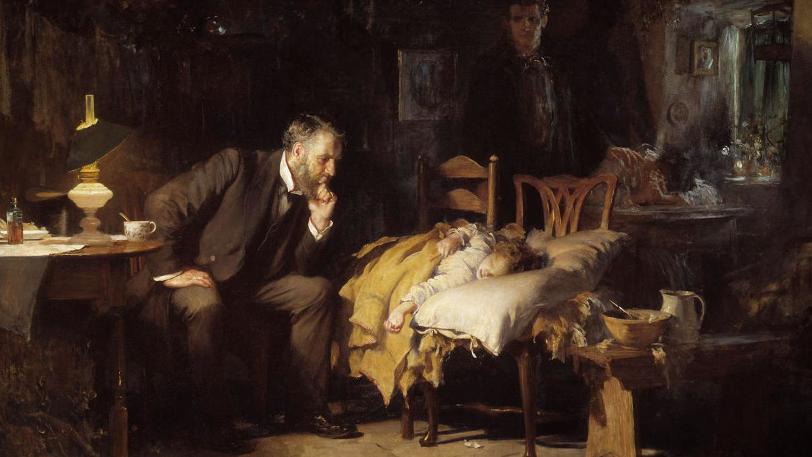 "Cover Photo: Detail from Luke Fildes' ""The Doctor"" (1891)/Wikimedia Commons"