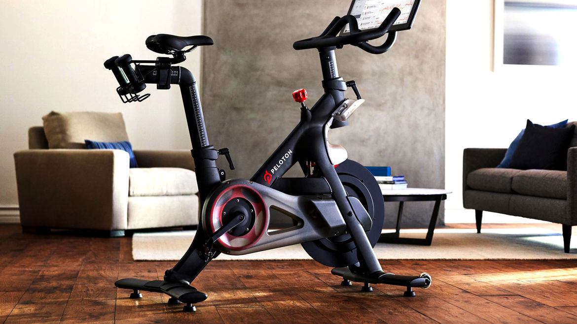 Cover Photo: A photograph of the Peloton bike: a very fancy and expensive high-tech exercise bike