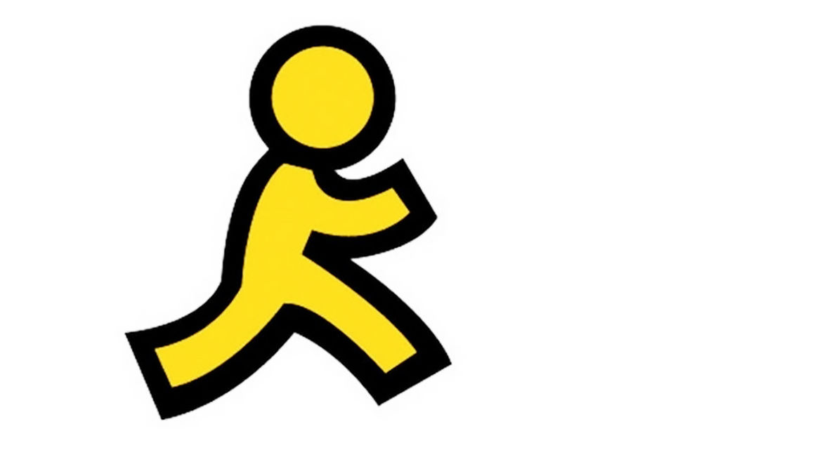 Cover Photo: The AOL lego: a simple and flat illustration of what is meant to be a human running away
