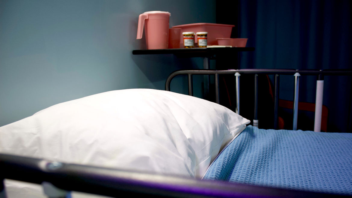 Cover Photo: An image of a hospital bed