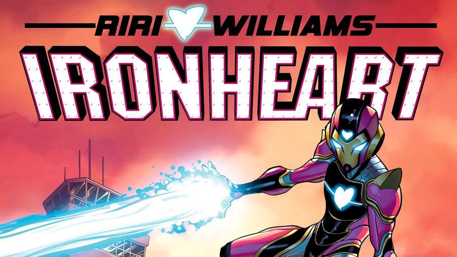 Cover Photo: crop of comic book cover illustration of Riri WIlliams, aka Ironheart