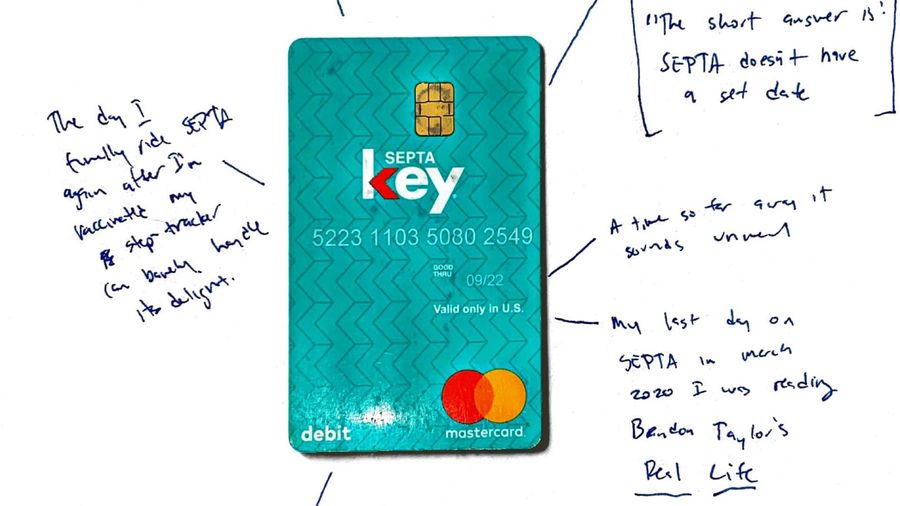 Cover Photo: The author shares a scan of his SEPTA key and has left notes about what it reminds him of.
