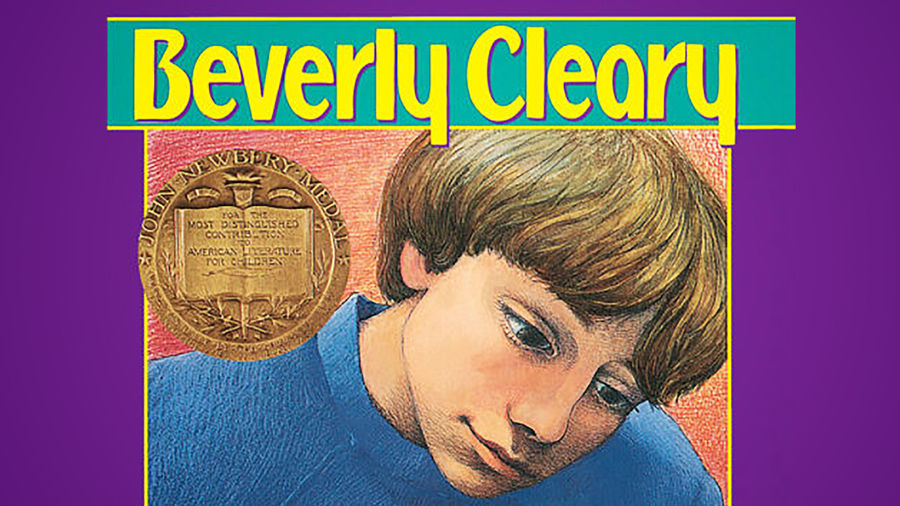 Cover Photo: A cover of Beverly Cleary's Dear Mr. Henshaw, featuring a white boy with brown-blonde hair in a blue sweater peering down.