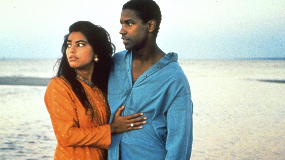 Cover Photo: A still from the film Mississippi Masala with Sarita Choudhury and Denzel Washington