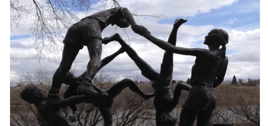Cover Photo: Tribute to Youth Statue, Saskatoon, Saskatchewan
