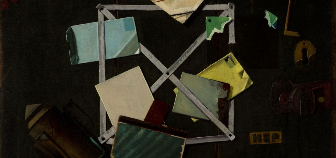 """Cover Photo: John Frederick Peto, """"HSP's Rack Picture"""" www.lacma.org"""