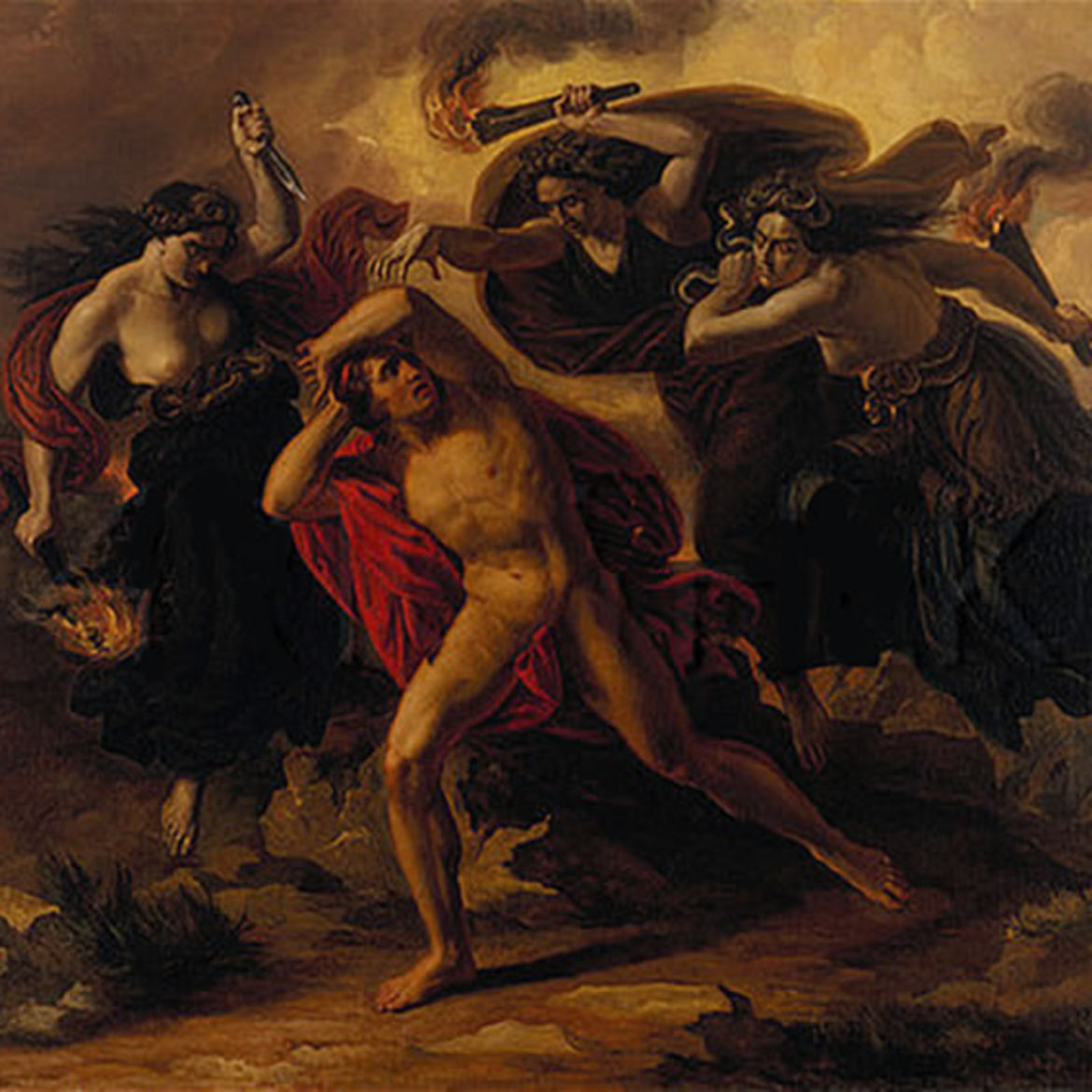 Cover Photo: Carl Rahl, 'Orestes Pursued by the Furies,' c. 1852