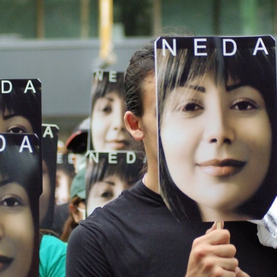 "Cover Photo: Still from the documentary ""For Neda."""