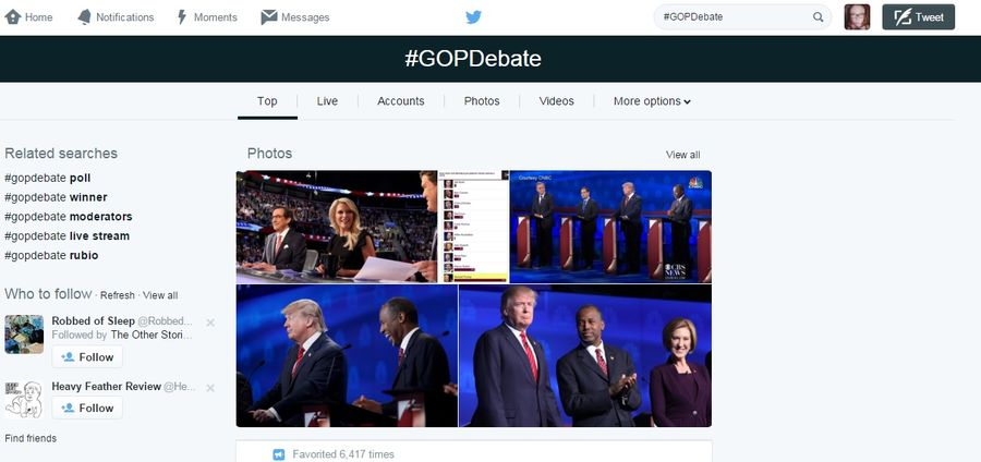 Cover Photo: Twitter Defeats Writer Due to #GOPDebate by Ilana Masad