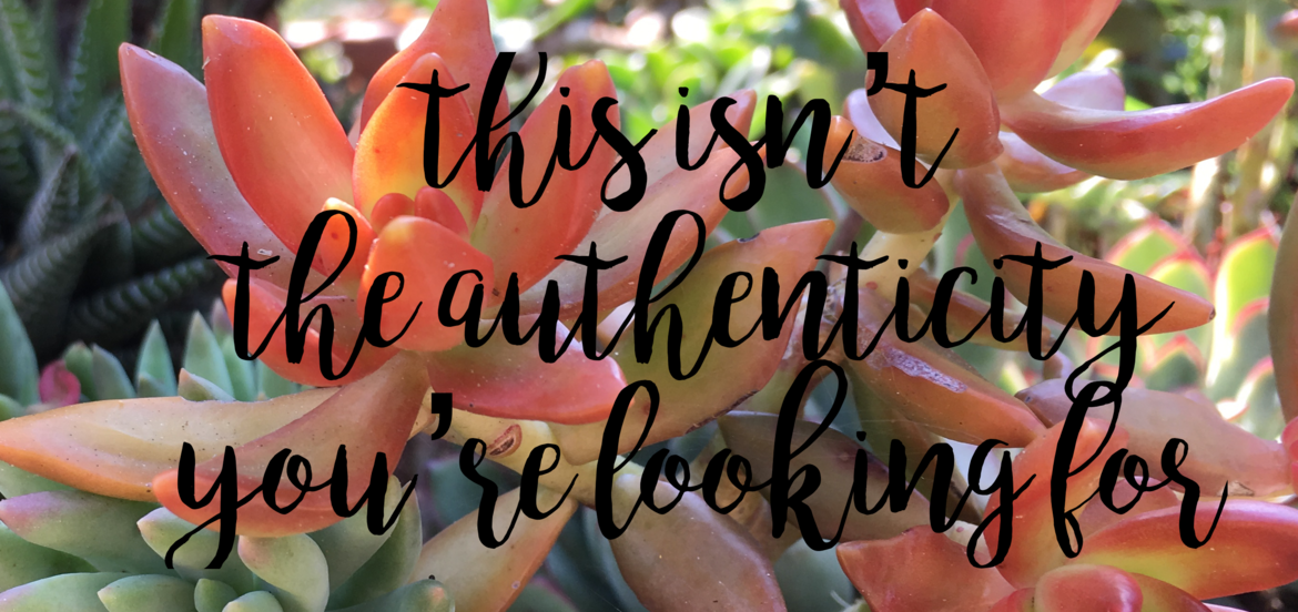 Cover Photo: This isn't the authenticity you're looking for by Emily Zero
