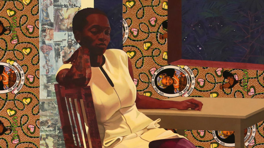 "Cover Photo: ""Portals"" by Njideka Akunyili Crosby/JR P/flickr"