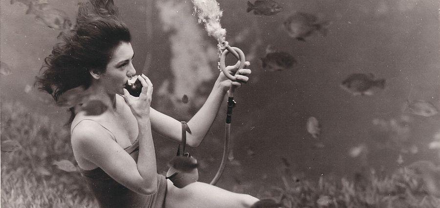 Cover Photo: J R Yagel, the Weeki Wachee Springs Mermaid Show, late 1940s, via Ellen Jo Roberts on Flickr