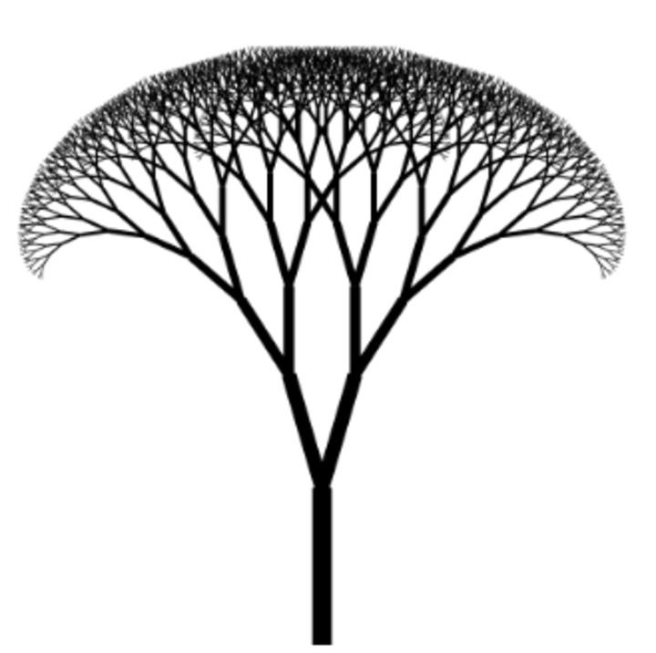 Image shows a graphic of a a neat, mathematically branching tree
