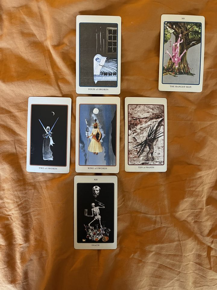 Image of the aforementioned tarot spread