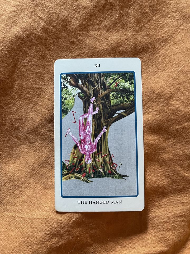 image of the tarot card, the hanged man